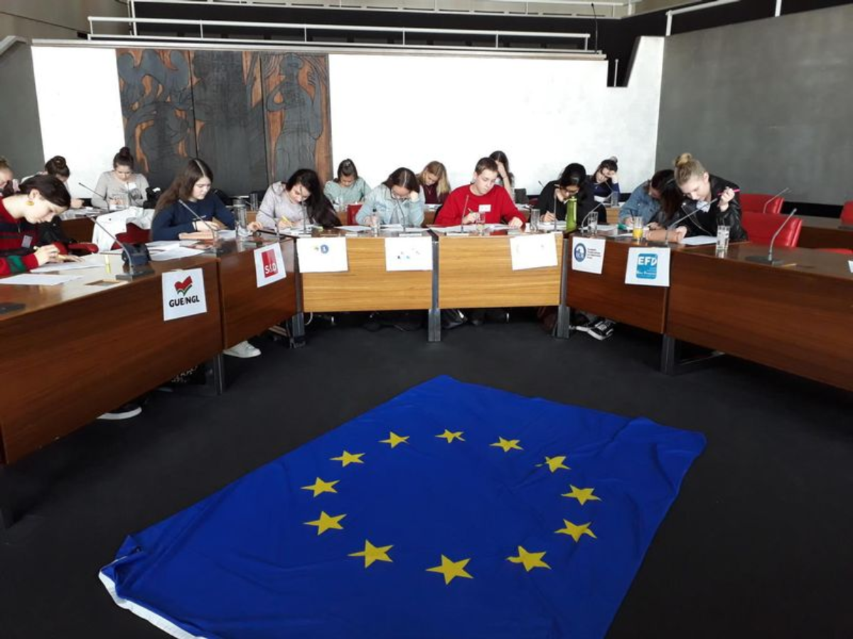 Planspiel EU im Pforzheimer Rathaus