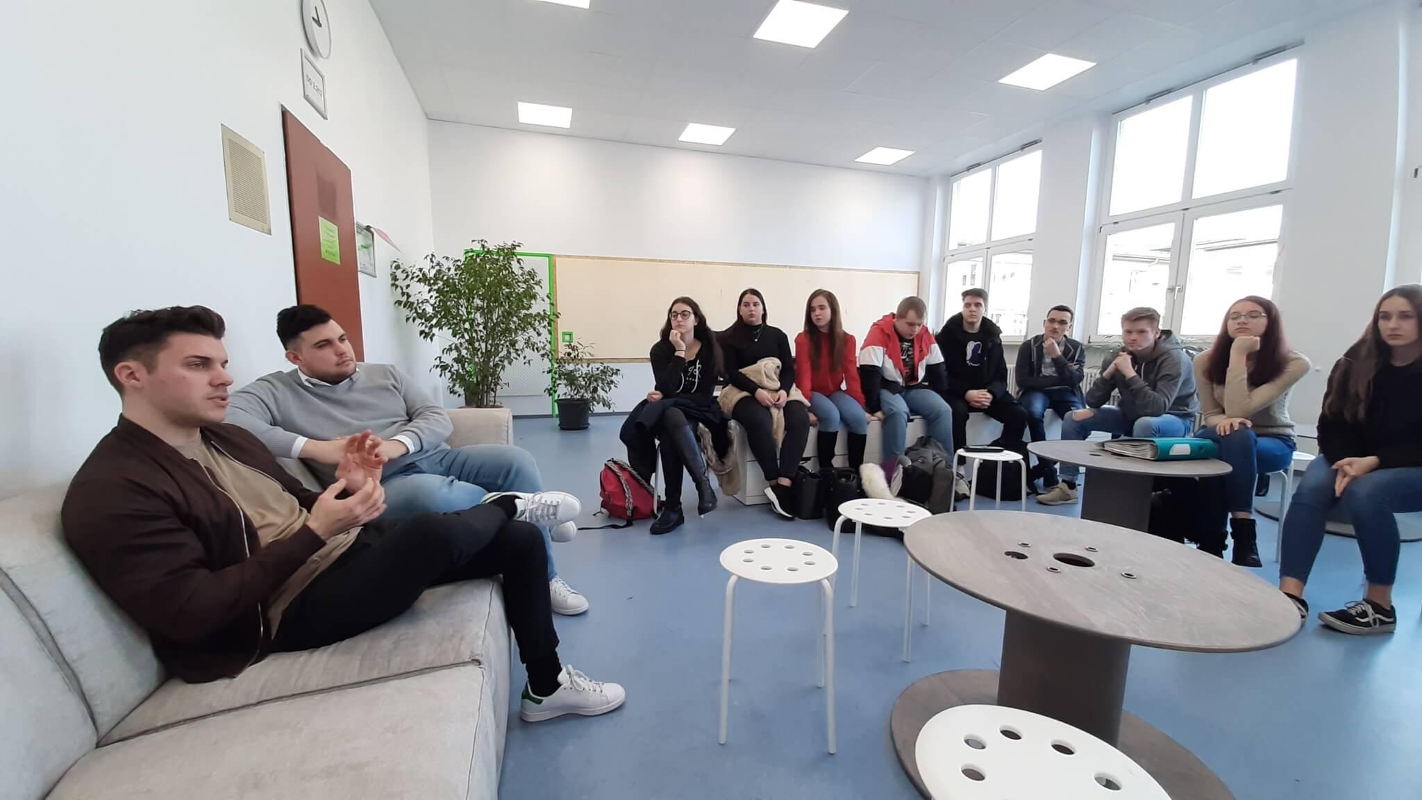 Gründergespräch im Creative Space