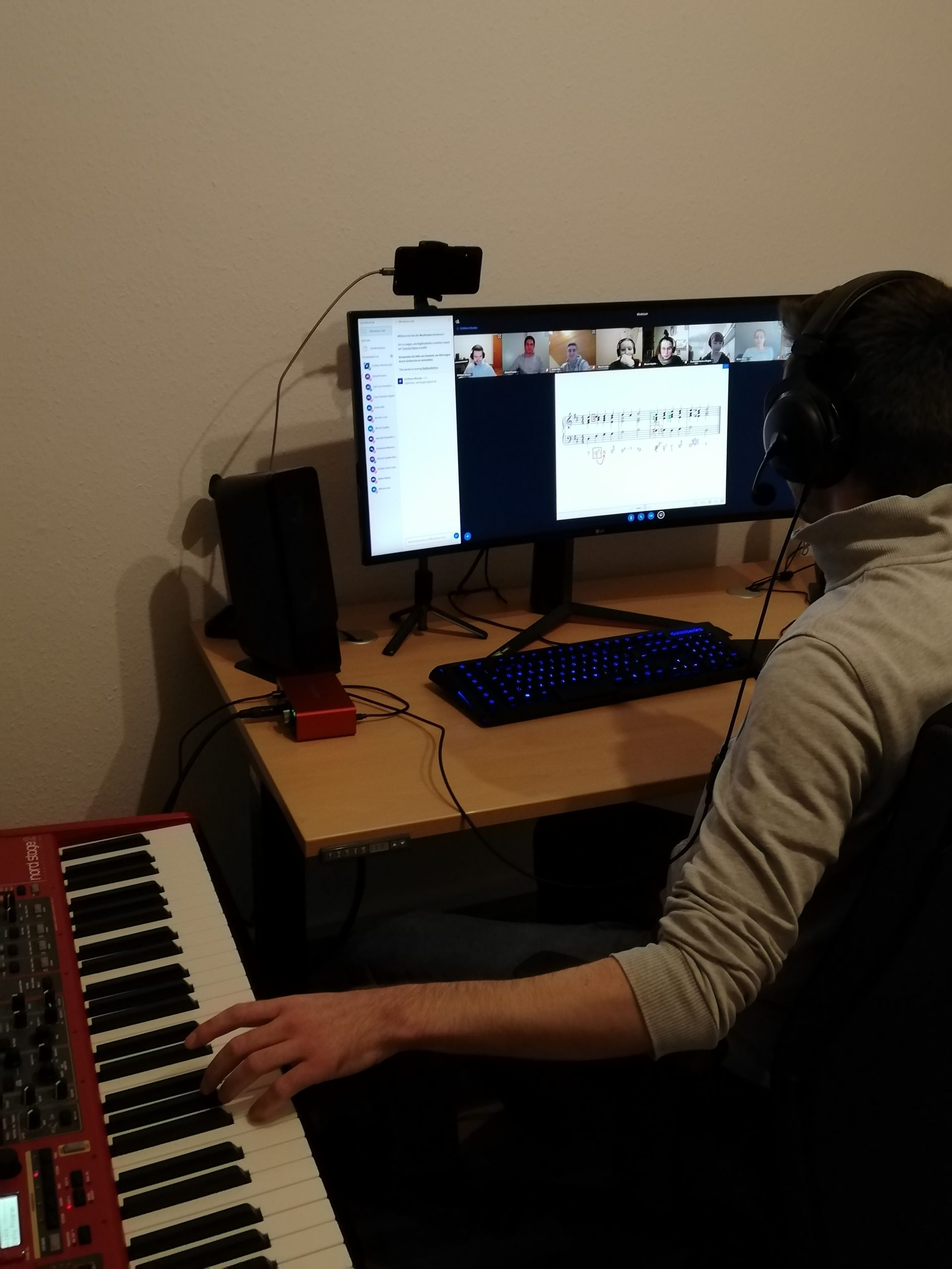 Gehörbildung und Musiktheorie virtuell