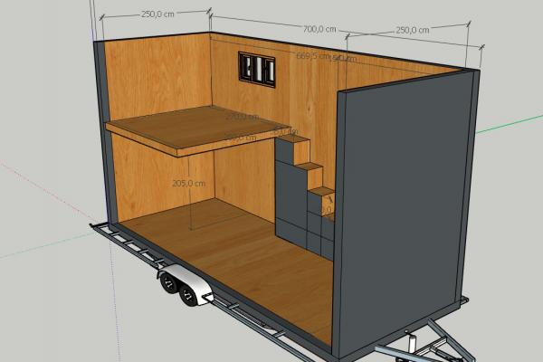 Tiny-House-Modell